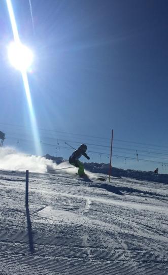 Sasha and Oli impressive on the Slalom courses