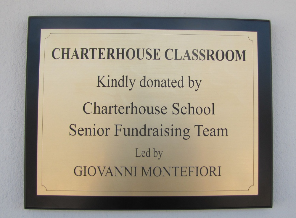 Charterhouse plaque